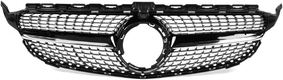 Gorgeri Front Grille Diamond Style Front Panamericana Grill Grille Fit for C-Class W205 2019