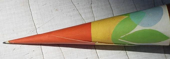 Schultüte Zuckertüte 70er 70s Geschwistertüte 35cm Anfang Kindergarten vintage .