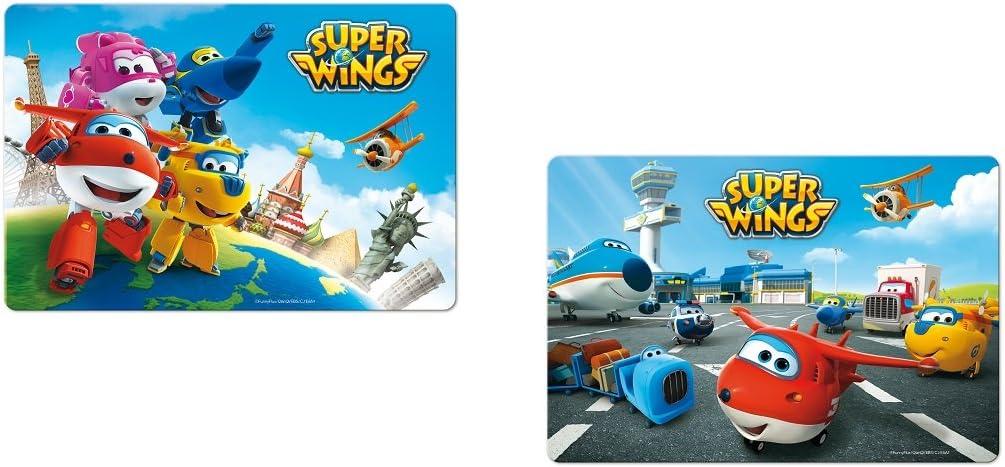 382 ALEATOIRE Set dessous de table bureau 3D Super Wings Repas enfant