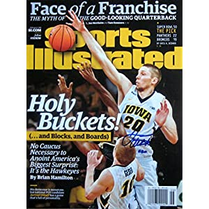 Jarrod Uthoff IOWA HAWKEYES autographed Sports Illustrated magazine 2/8/16