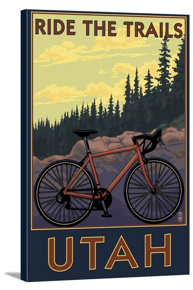 ユタ州 – Mountain Bikeシーン 12 x 18 Gallery Canvas LANT-3P-SC-34099-12x18 B018P4WK82  12 x 18 Gallery Canvas
