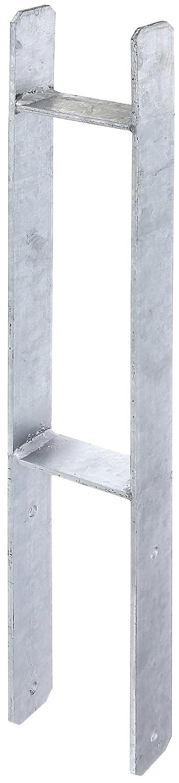 lichte Breite: 141 mm Materialst/ärke: 6 mm GAH-Alberts 213893 H-Pfostentr/äger feuerverzinkt Gesamth/öhe: 600 mm