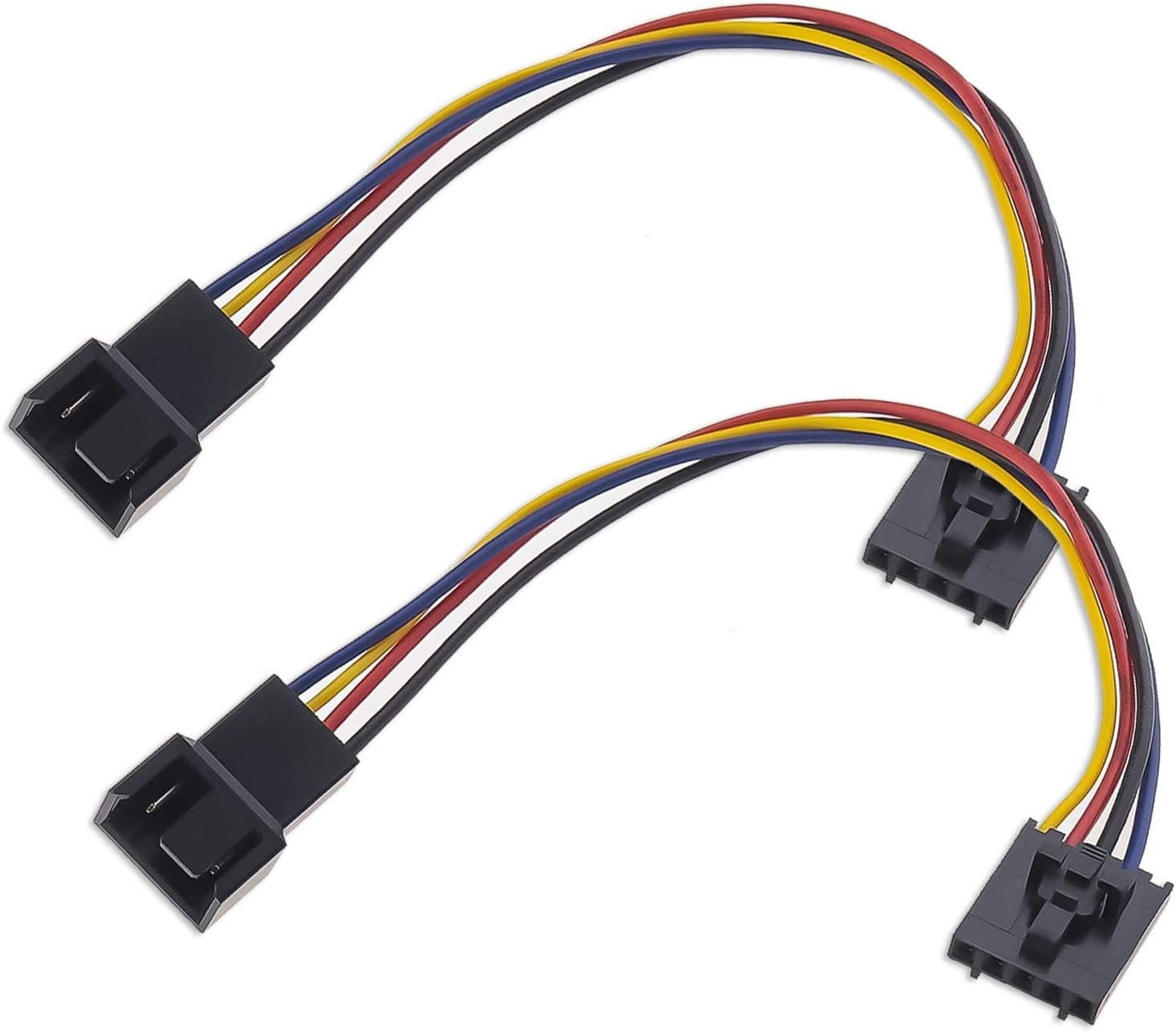 2 Pcs 5 Pin to 4 Pin Fan Adapter Converter Extension Cable Dedicated Fan Interface Conversion Line Compatible with Dell Computer PC