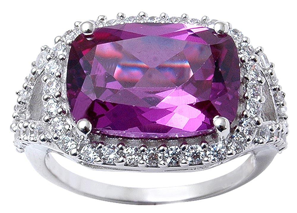 7abb28af8b Amazon.com: Banithani 925 Solid Silver Gorgeous Amethyst Stone Charm Ring Indian  Fashion Women Jewelry: Jewelry