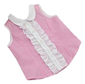 4b4701b7df744 ギンガムチェック シャツ 女の子 ガールズ 90㎝ 桃色 黒色 水色 ノースリーブ トップス (ピンク)
