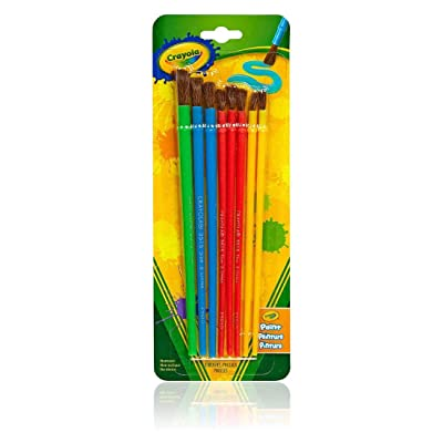 Crayola Paint Brushes 8 per Package, Assorted Colors & Sizes: Toys & Games