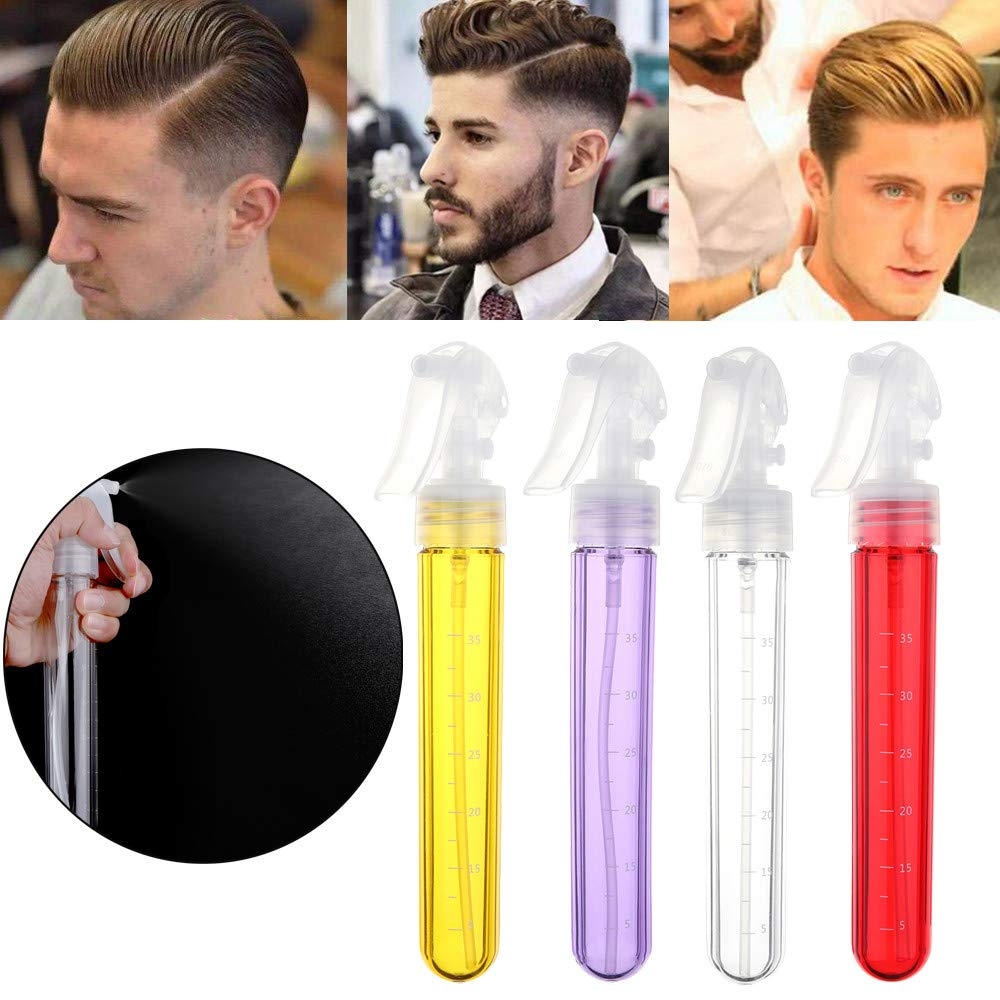 Travel CasesEmpty Plastic Spray Bottles - Attractive Vibrant Colors AcrylicTube shape Multi Purpose Use Hairdressing Spray Bottle Salon Barber Hair Tools Water Sprayer (1.14x8.3in, White)