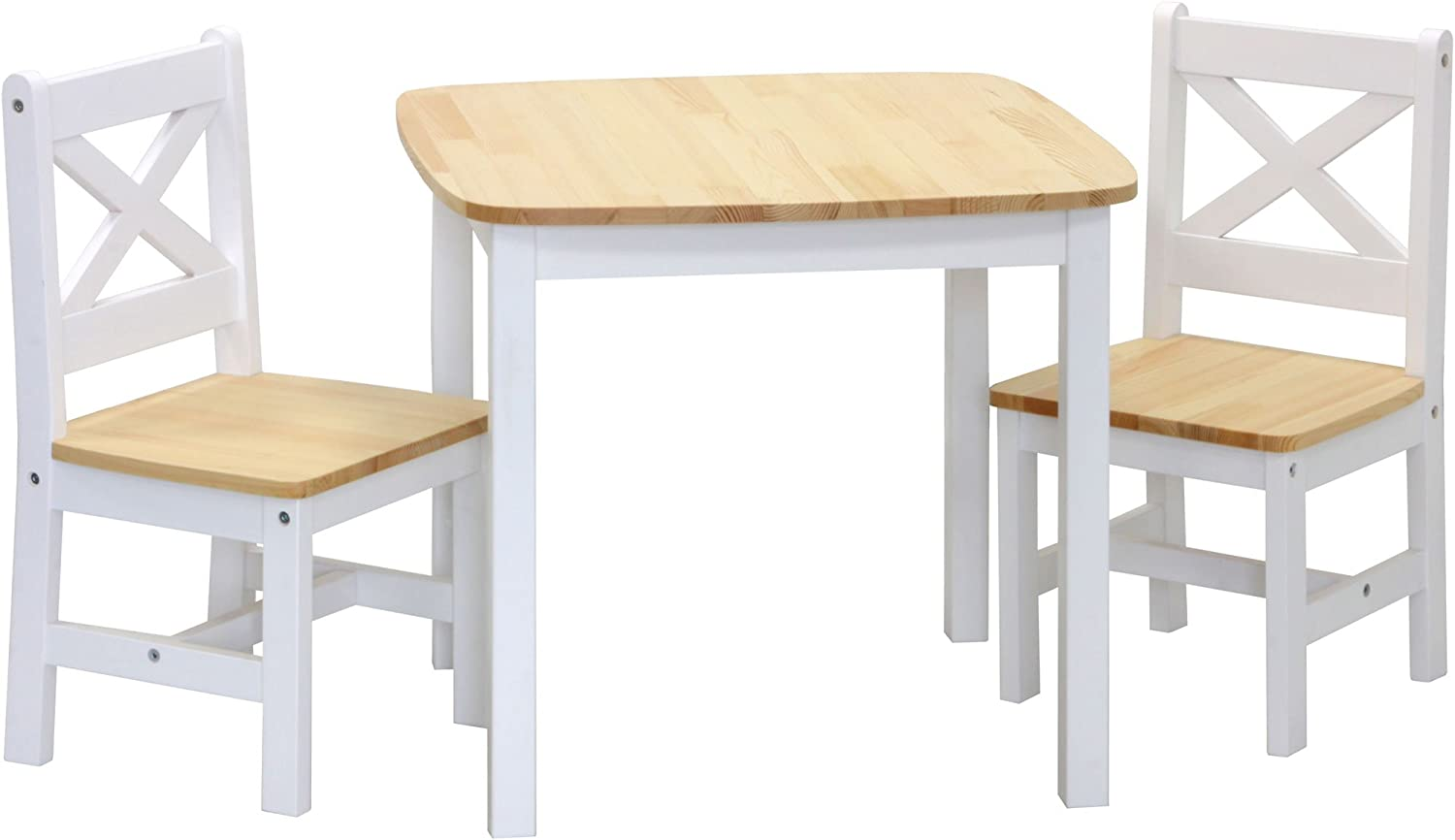 IB-Style Table and Chair Set XEN for Children wooden - 3 Variations - Table and 2 Chairs