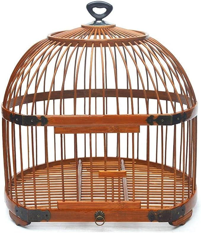 Xilinshop Canarios Jaula Mascota Portátil de pequeño tamaño Bird Carrier, Viajes Ligera Jaula, la Jaula de pájaro Que cuelga de pequeño Loro del Cockatiel Jaulas para Loros