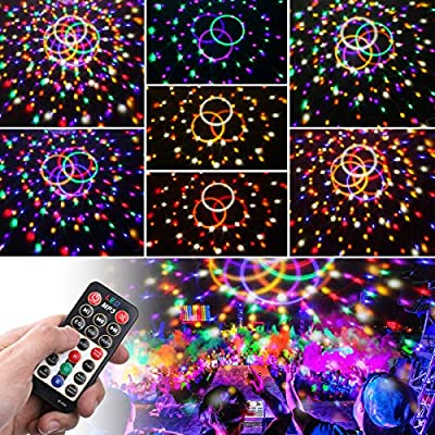 Sound Activated Party Lights with Remote Control Dj Lighting SOLMORE Disco Ball 9 Colors Strobe Lamp 7 Modes Stage Par Light Club Party Gift Kids Birthday Wedding Home Karaoke Dance