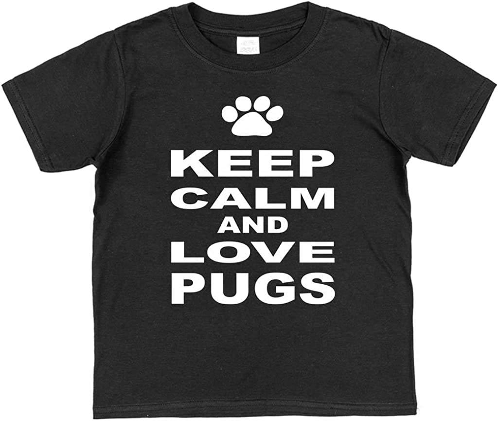 Click My Clobber Keep Calm and Love Pugs Kids T-Shirt