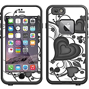 Skin Decal for LifeProof Apple iPhone 6 Case - Brave Heart Black on White