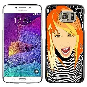 Be Good Phone Accessory // Dura Cáscara cubierta Protectora Caso Carcasa Funda de Protección para Samsung Galaxy S6 SM-G920 // Girl Clever Redhead Ginger Grunge Chick