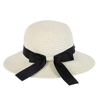 Gorros Ocio Verano Mujer Dama Hombres Niñas Ancho Sombrero De ...