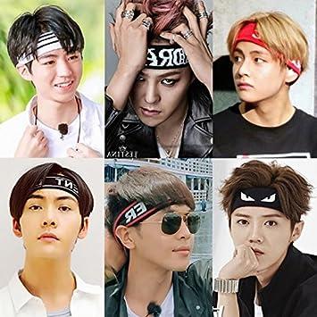 Amazon.com   South Korean sports headband hair band influx of men and women  yoga fitness running absorbent turban headband wide face headgear headwear  for ... eb2b7b9ef43