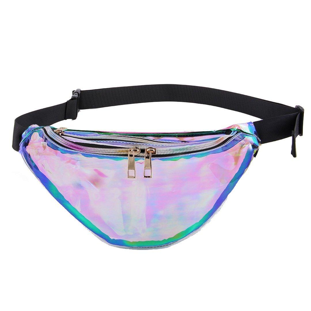 Orita Shiny Waterproof Hologram Waist Bag Sports Outdoor Fanny Pack PU Bum Bag Purse Gift Transparent