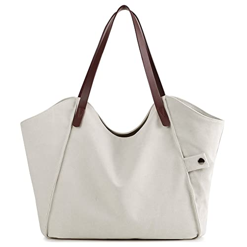 e4f5f655fd Amazon.com  Canvas Shoulder Bag Casual Big Tote Handbag Work Shopping Bag  Travel for Women Girls Ladies  Shoes