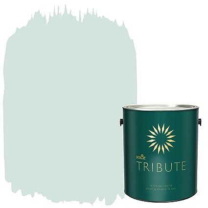 Attirant KILZ TRIBUTE Interior Matte Paint And Primer In One, 1 Gallon, Misty  Morning (