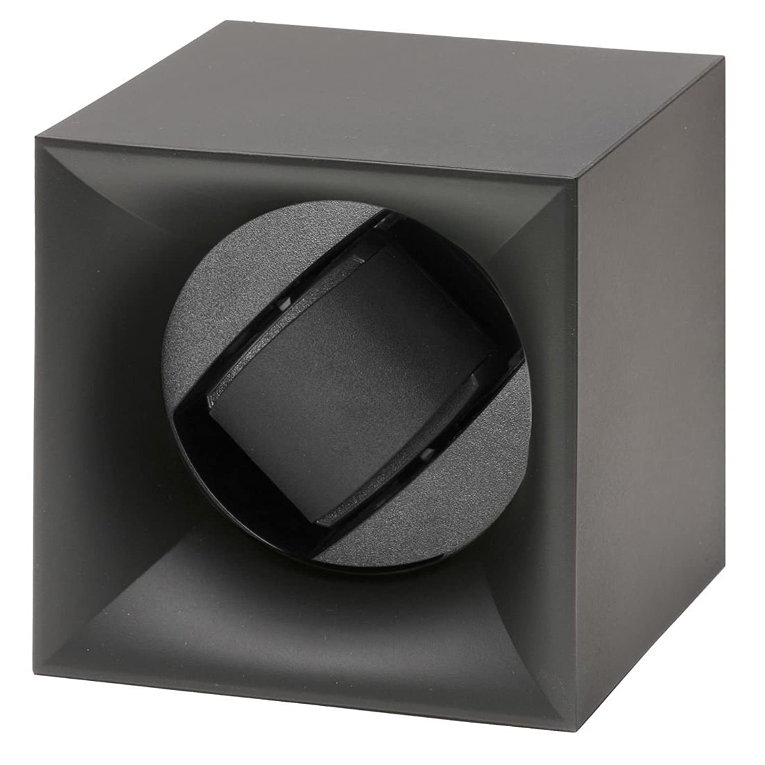 Swiss Kubik Startbox Single Uhrenbeweger in schwarz Soft Touch Finish