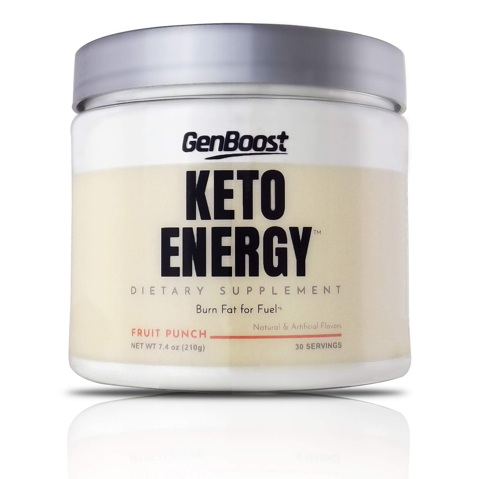 GenBoost - Keto Energy - 30 Day Slimming Drink (30 Servings) - Powder Drink Mix to Reach Ketosis, Reduce Stress & Boost Energy - Exogenous Ketones & BHB Salts for Any Ketogenic Diet - Fruit Punch by GenBoost