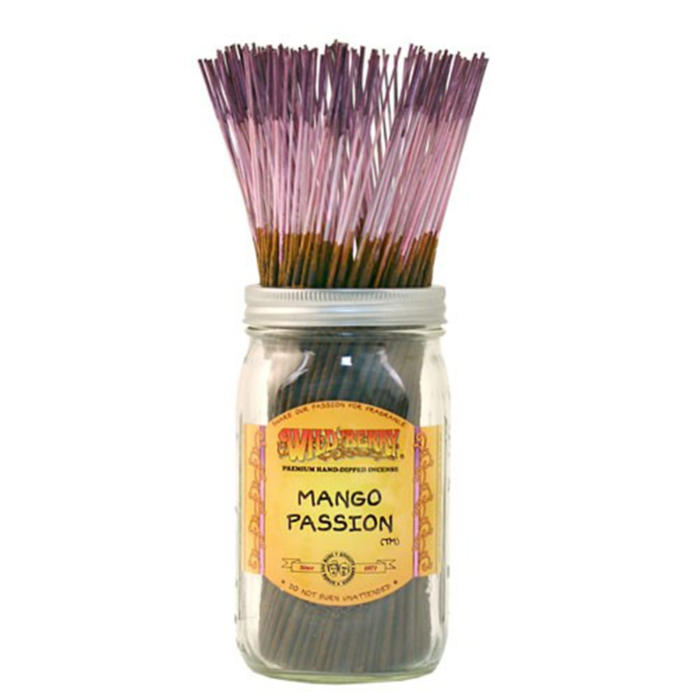 WILDBERRY MANGO PASSION, Highly Fragranced Incense Sticks Bulk Pack, 100 Pieces, 11-inch