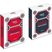 Cayro-5505 Baraja de Naipes Póker Caja plástico, Multicolor