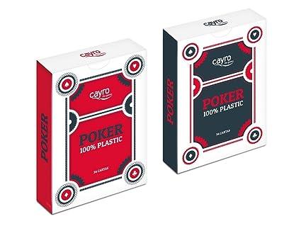 Cayro-5505 Baraja de Naipes Póker Caja plástico, (5505)