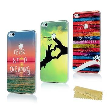 Maviss Diary Huawei P8 Lite 2017 Funda Silicona Ultrafina Carcasa Ultra Delgado TPU Cover Protector para Huawei P8 Lite 2017