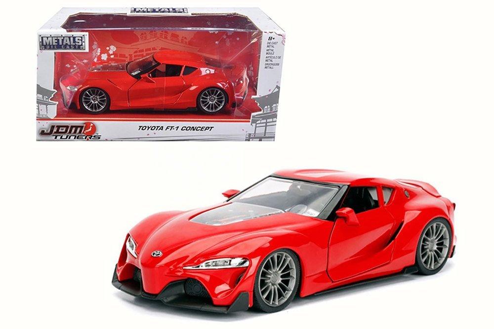 Toyota Ft 1 >> Amazon Com Toyota Ft 1 Concept Red Jada 98416wa1 1 24