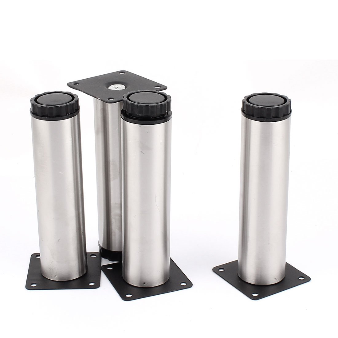 uxcell Sofa Chair Tea Table Bed 38mm x 150mm Adjustable Cabinet Leg 4pcs