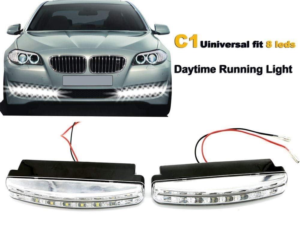 luci diurne led 2 pezzi Impermeabile 12V 6000K Slim LED DRL Daylight Driving Daytime Running Light Lampada per auto SUV Sedan Coupe Vehicle Universal (Xenon White) PAVEDGE ELECTRONIC TECHNOLOGY CO. LTD PAV-08C1