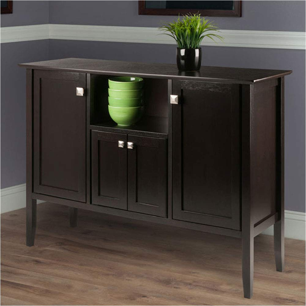 Winsome Wood 23646 Buffet Cabinet//Sideboard Coffee Finish