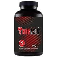 THORAXIN Extreme Muskeln | BCAA + L-Arginin hochdosiert | Aminosäuren Komplex | 90 Kapseln