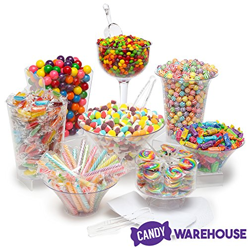Rainbow Candy Kit - Party Candy Buffet Table: 25 to 50 Guests -