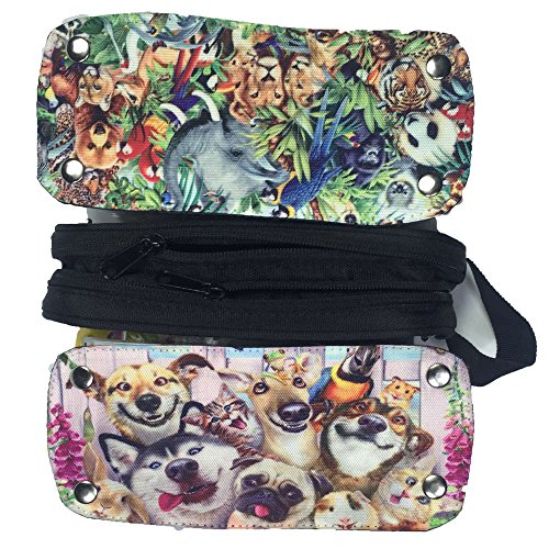 Mingdou Animal Pencil Case For Toddler Kids Boys Girls Teenagers Personalized Holder Tote Pouch Bags(DPAnimal15) by Mingdou