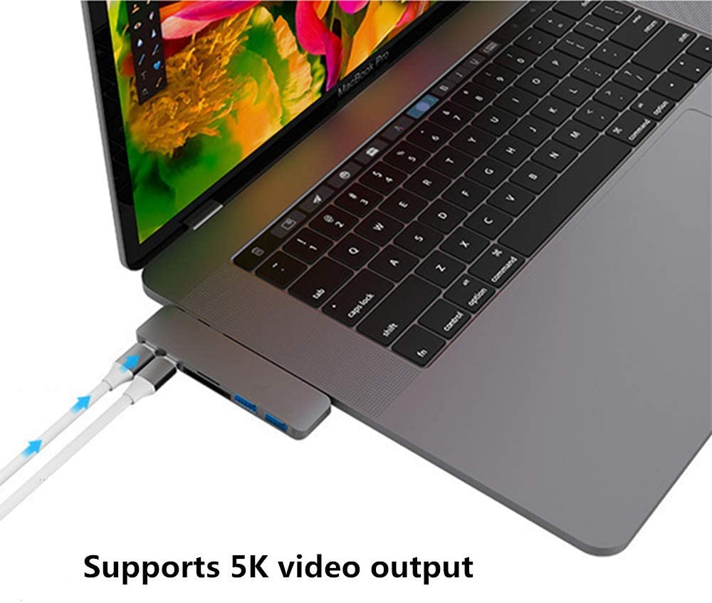 Gold Color Mini Ultra-Thin USB-C Card Reader HUB PD for MacBook MacBook Pro Compatibility Thunderbolt 3 USB 3.2 3.0 2.0 1.0