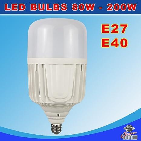 Bombillas LED de larga vida con ventilador de refrigeración y reflector, 150 W, E27