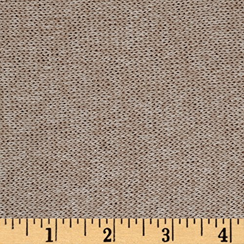 (Lavitex Lightweight Marled Sweater Knit Fabric, Sand, Fabric by the yard)