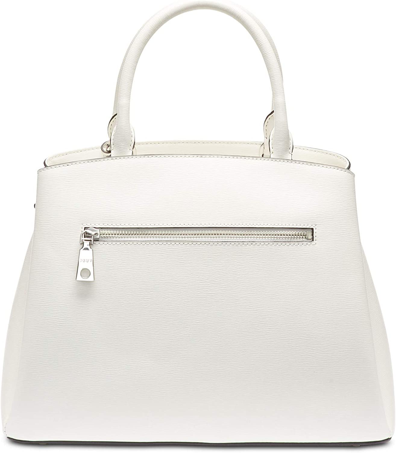 White DKNY Paige Leather Large Satchel