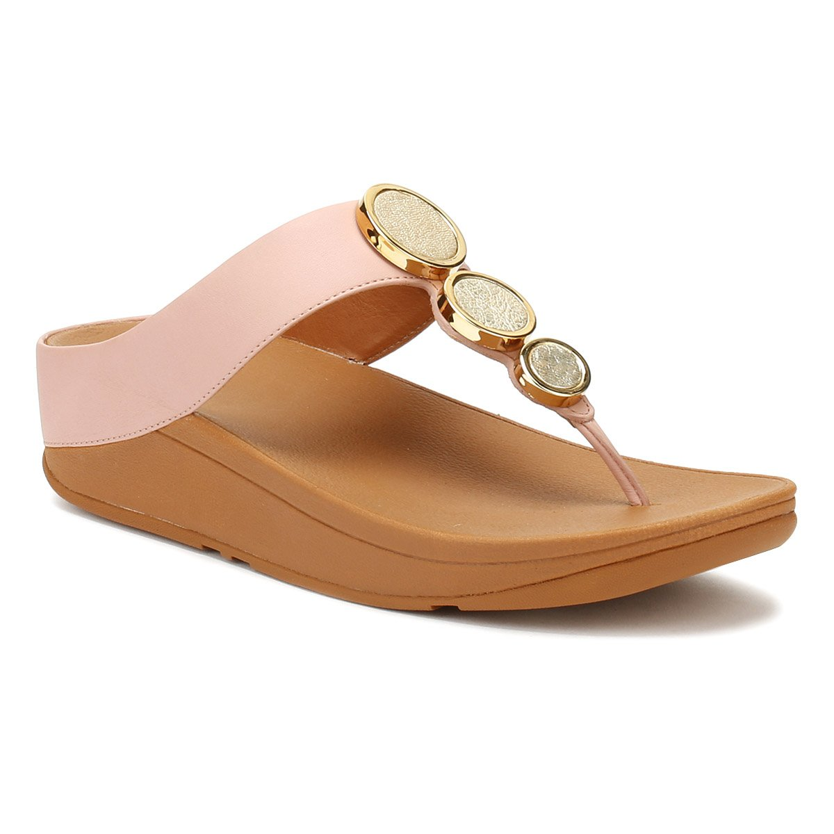 Pink Post Halo Dusky Toe B0093wokp2 Sandals Fitflop wIp16qEw