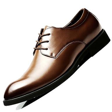 Herren Formelle Derby Business Klassische Schnürschuhe Echtes Leder  Spitzschuh Schwarz Oxford Uniform Hochzeit Brogue Schuhe  Amazon.de   Bekleidung f8db9d6807