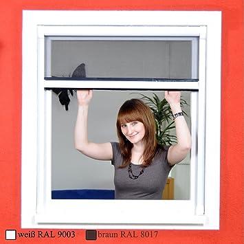 Standard Fliegengitter Rollo Fenster OHNE BOHREN Mit Fiberglasgewebe    Insektenschutz Zum Klemmen   130 X 160