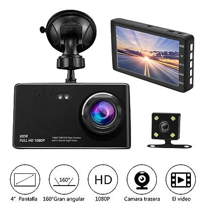 dcf707a61 Camara de Auto Dual Dashcam,Camara para Coche Full HD 1080P G-Sensor Vision