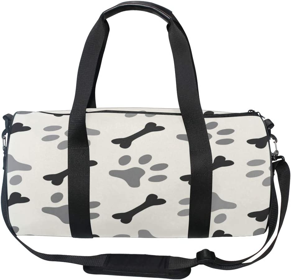 MALPLENA Bone And Dog Paw Drum gym duffel bag women Travel Bag