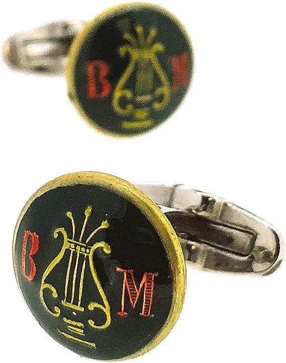 Gemelos de Camisa con Botones Originales de la Banda de Música Militar Epoca Alfonso XIII 15 mm: Amazon.es: Ropa y accesorios