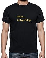 Here Fishy Fishy – Mens T Shirt From Rhino And Mugsy