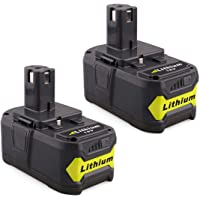 VANON 2Pack P108 6000mAh 18V Lithium Battery Pack Replacement for Ryobi 18-Volt ONE+ P104 P105 P102 P103 P107 Tool(AU STOCK)