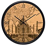 12inch India Agra City Taj Mahal Hotel Lobby Wall Clock
