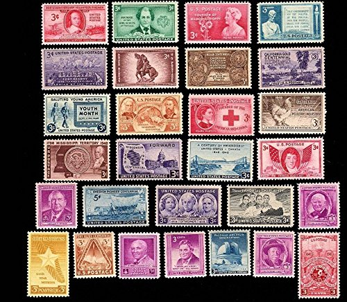 1948 Year Set of 29 Commemorative Stamps Mint NH Scott 953-80, C38 By USPS