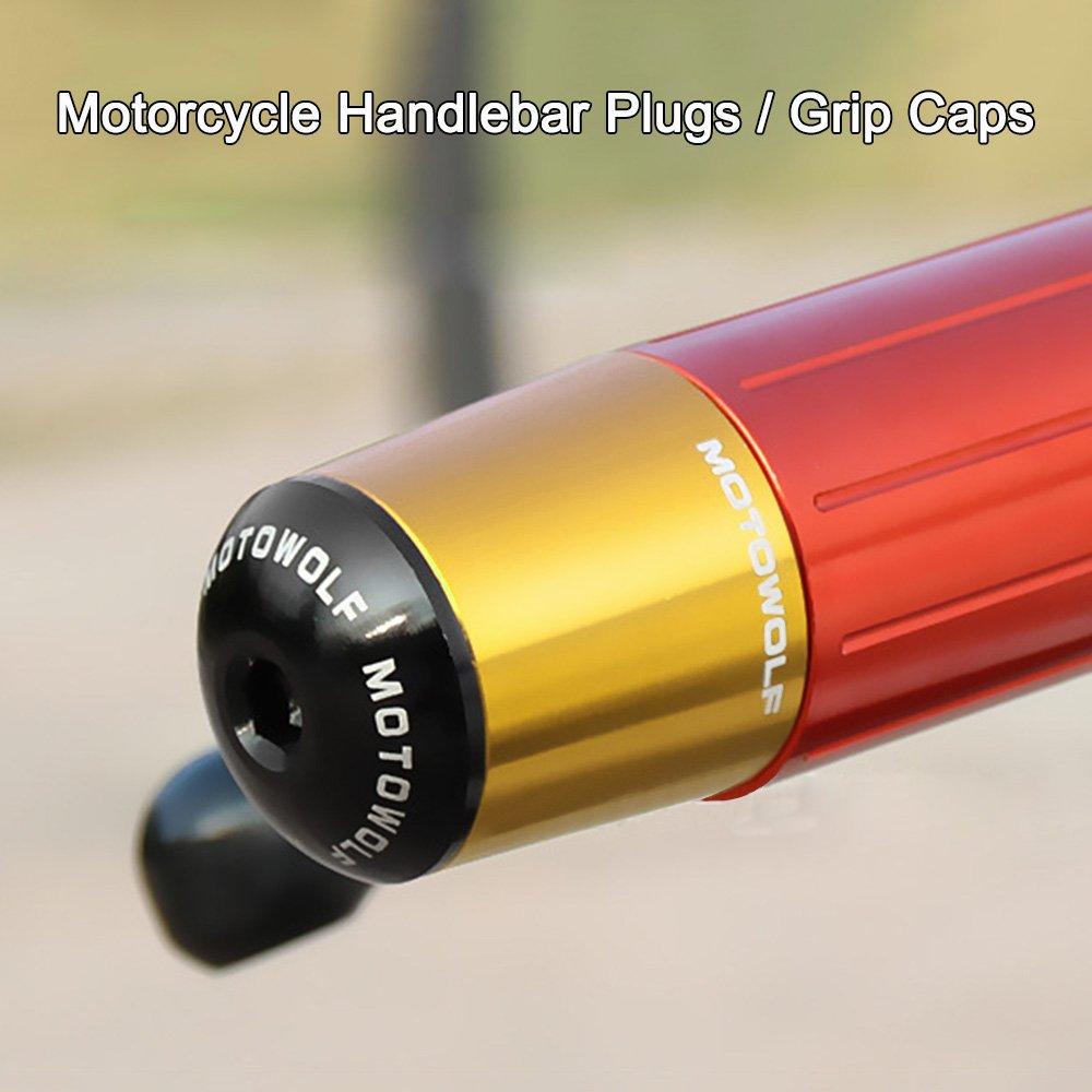 Nero KKmoon Coppia di Universale della Motocicletta del Motociclo di Alluminio Barra Di Scorrimento Fine Spina Protezione